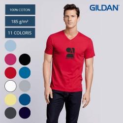 T-Shirt Col V Homme...